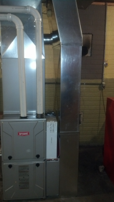 After Installation - Bryant Gas Furnace Installation with Air Cleaner